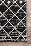 nuLOOM Moroccan Blythe Square Rug, 8' Square, Black