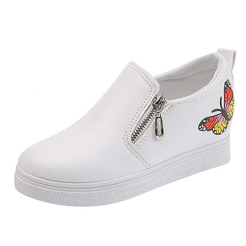 QinMM Mariposa Cuñas Planas Mocasines Moda para Mujer Zapatillas Casual Zapatos: Amazon.es: Zapatos y complementos