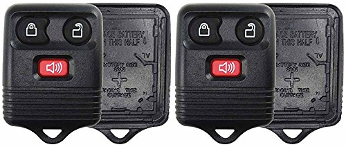 (KeylessOption Just the Case Keyless Entry Remote Key Fob Shell Replacement - Black (Pack of 2))