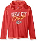 "NFL Girls 7-16 ""Glory Days"" Tri-Blend Pullover Hoodie-Red-M(10-12), Kansas City Chiefs"