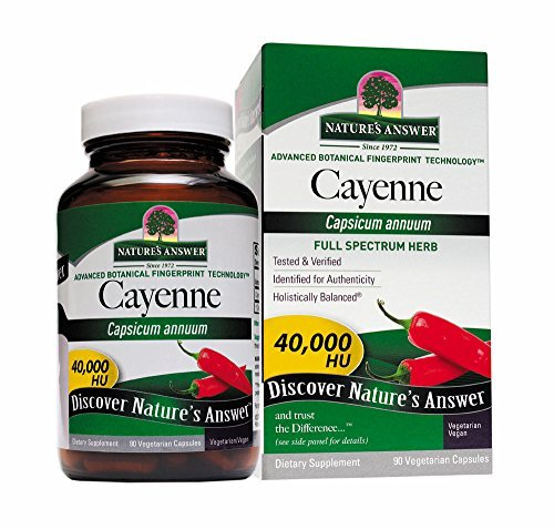 Nature's Answer Supplements Cayenne Pepper Fruit 90 vegetarian capsules Single Herb - (Cayenne Pepper Fruit)