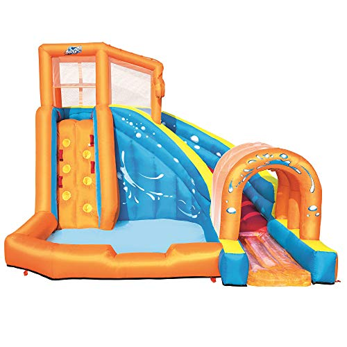 H2OGO! Hurricane Tunnel Blast Mega Inflatable Summer Family Water Park, Multicolored