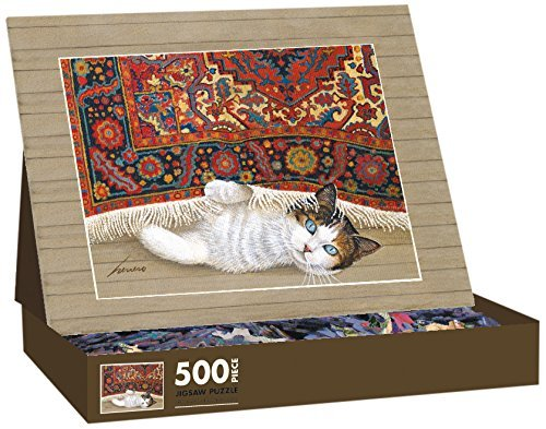 Lang American Cat Rose by Lowell Herrero Jigsaw Puzzle (500-Piece) by (Lowell Herrero American Cat)