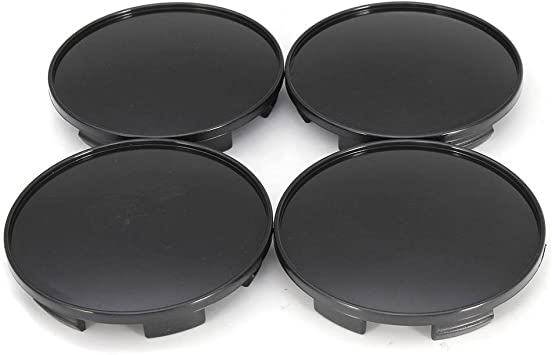 4x 68mm Universal ABS Black Auto Car Wheel Center Hub Caps Covers Set No Emblem