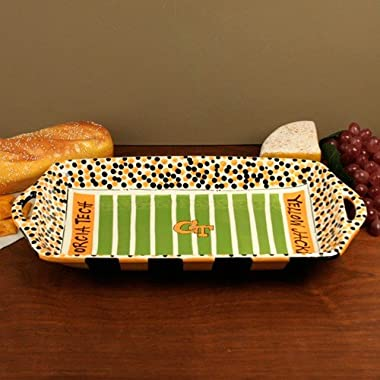 NCAA Georgia Tech Yellow Jackets Gold-Black Ceramic Stadium Tray