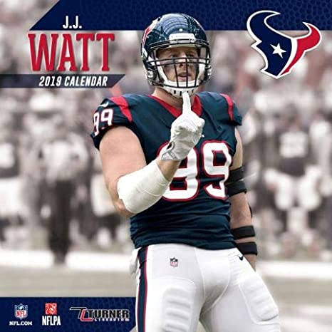 Texans Calendar 2019 Amazon.com: 2019 Houston Texans J. J. Watt Wall Calendar
