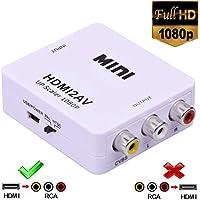 HDMI to RCA,1080p HDMI to 3RCA CVBS AV Composite Video Audio Adapter Converter