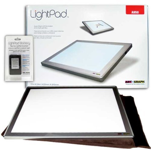 Artograph Led Lightpad 17X24 A950 W Batt Pack by Artograph