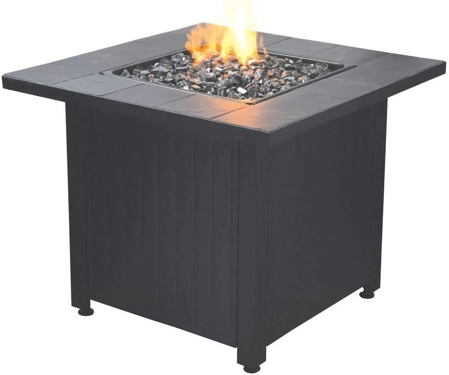 Endless Summer Liquefied Petroleum Outdoor Firetable with Black Fire Glass