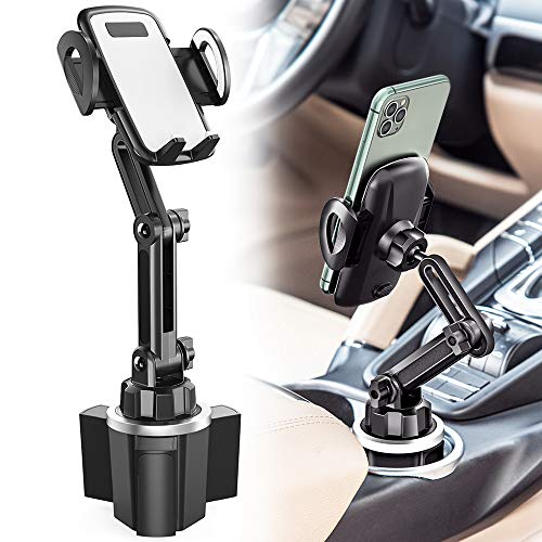 Car Cup Holder Phone Mount, CTYBB Cup Holder Cradle Car Mount with Adjustable Neck for Cell Phones iPhone 12 Pro Max /11…