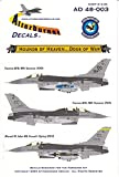 AFD48003 1:48 Afterburner Decals F-16C F-16D Falcon Block 40 524FS Hounds of Heaven Cannon AFB [WATERSLIDE DECAL SHEET]