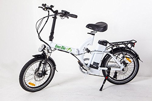 GreenBike USA GB5 Electric Motor Power Bicycle Lithium Battery Bike - FULL SUSPENSION (White)