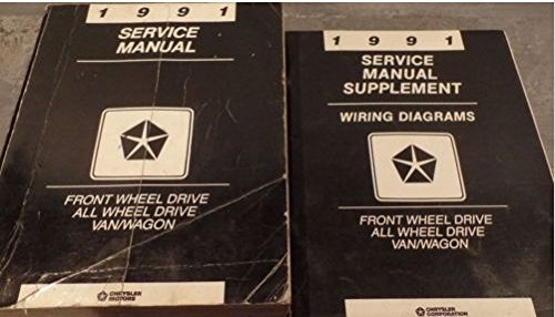1991 Dodge Ram Van Wagon FWD Service Shop Repair Workshop Manual Set W Supplemen -
