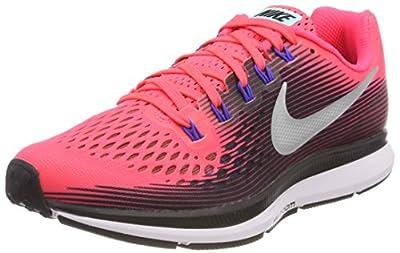 Nike Womens Air Zoom Pegasus 34 Solar Red/Metallic Silver/Black 5.5 B (M)