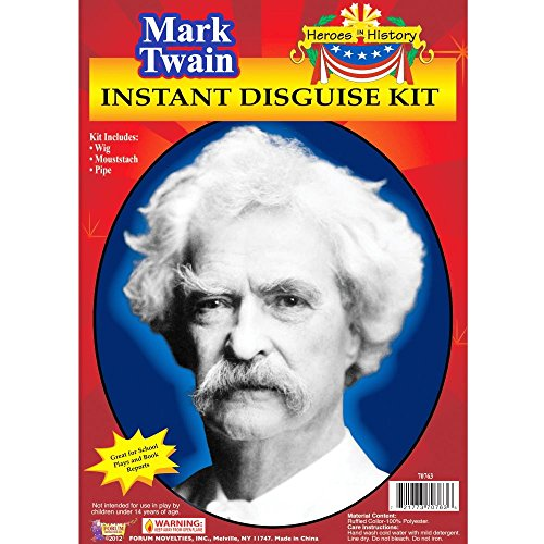Beethoven Wig Costumes (Forum Novelties Men's Heroes In History Instant Disguise Kit Mark Twain, Multi, One Size)