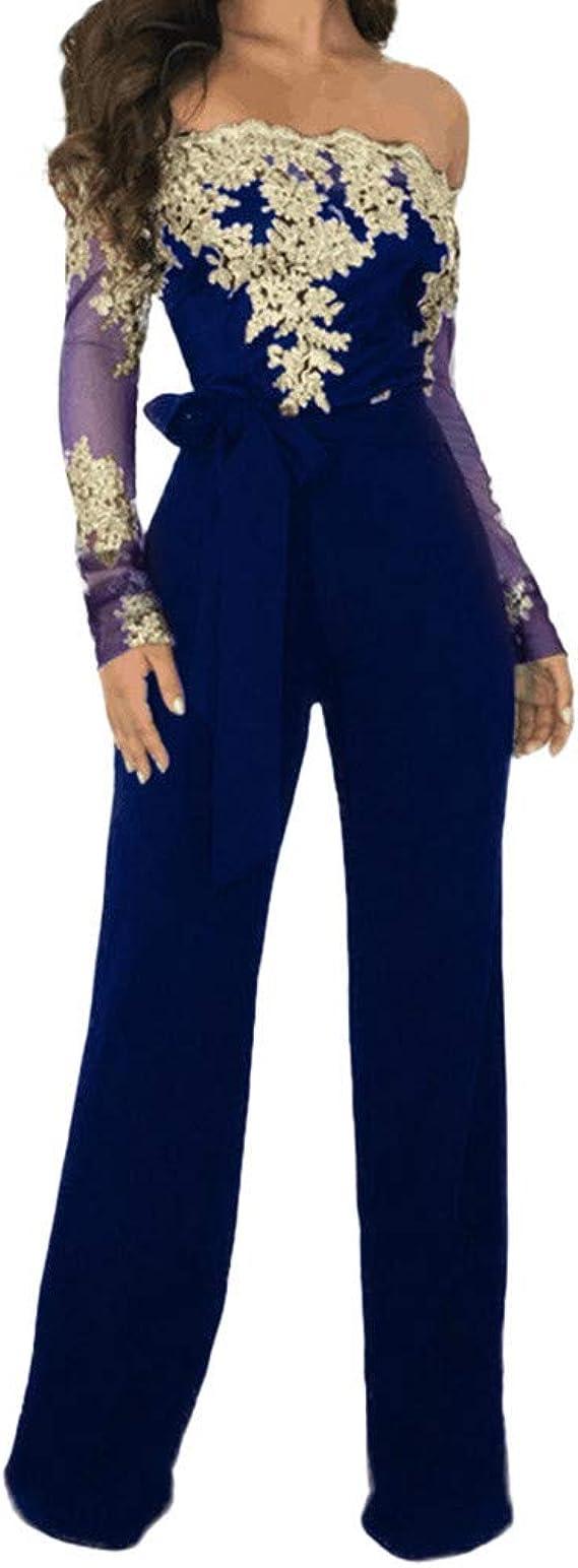 RISTHY Monos Largos Mujer Elegantes Verano Monos Tallas Grandes Mujer Fiesta Clubwear Strappy Striped Playsuit Vendaje Blusas Mujer Petos Gran Tama/ño Pantalones Anchos Jumpsuit