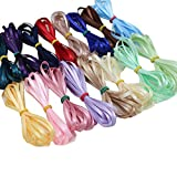 XUKE 1/8Inch by 1M Solid Thin Satin Ribbon Sent of 16 Colors