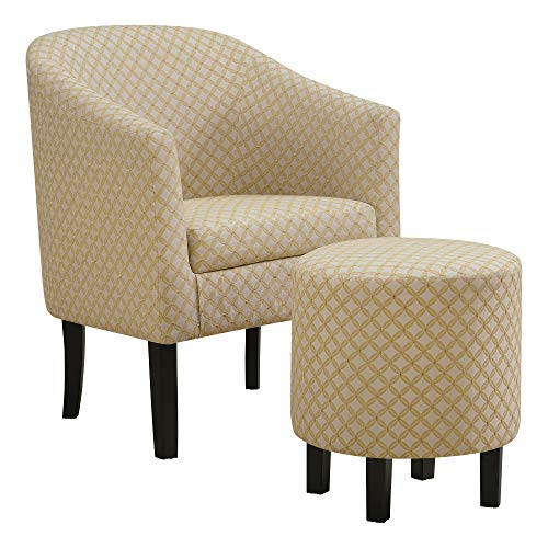 Monarch Specialties I 8324 Accent Chair One Size Yellow