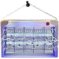 Tueur de Moustique Électronique Destructeur d'Insectes Lampe LED 20W Intérieur contre Insectes, Piège à Moustique Tueur de Mouche