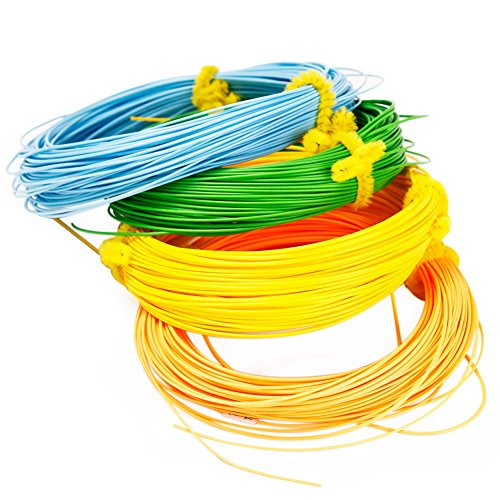 Sougayilang Fly Line 100FT Floating Weight Forward for Fly Fishing (Yellow, 8F) (100' Line)