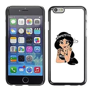 EJOY---Cubierta de la caja de protección la piel dura para el / Apple Iphone 6 Plus 5.5 / --Princesa Evil
