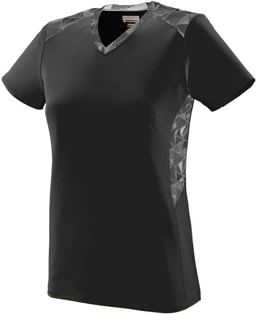 Augusta SportswearレディースVigorousジャージー B00P53XNZ6 xx-large Black/Black/White Print Black/Black/White Print xx-large