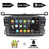 """Android 8.1 Receiver 8"""" Big Screen Double Din Radio Car Stereo with Navigation fit Toyota RAV4 2013 2014 2015 2016 2017 2018 bt Head Unit indash DVD Touch Screen GPS SD USB MP3 Multimedia with backup camera"""