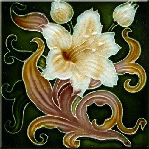- Art Nouveau Ceramic Tile 6 Inches Reproducction #0058