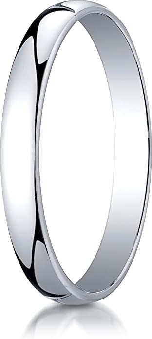 14K White Gold 3mm Traditional Flat Wedding Band Ring for Men /& Women Size 4 to 15