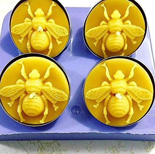 Silicone honeybee Tea light candle Mold wax melt easy release 4 cavity Homemade