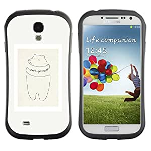 "Pulsar iFace Series Tpu silicona Carcasa Funda Case para SAMSUNG Galaxy S4 IV / i9500 / i9515 / i9505G / SGH-i337 , Cerdo Cita minimalista Marco en colores pastel"""