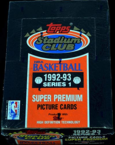 1992-93 Topps Stadium Club Series 1 Basketball Hobby Box ()