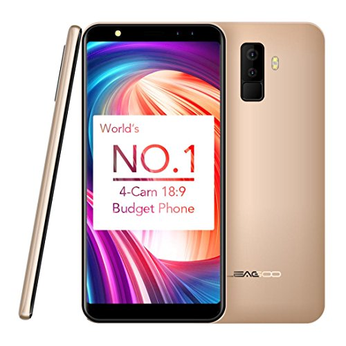 Unpara 5.5 Inch 2GRAM+16GROM 3G Phablet Smartphone Android 7.0 Quad Core 1.3GHz Dual SIM Dual Stay 8.0MP Camera WiFi Bluetooth Gorilla Glass 3 Cellphone (Gold) (Dual Sim Tablet With Television)