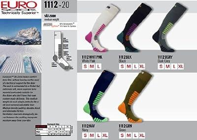 Eurosocks 1112 Ski Zone OTC Ski Socks With MicroSupreme Moisture Control -Pairs