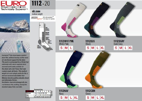 Eurosocks-Ski-Zone-OTC-Socks-Padded-Protection-Absorbs-Shock-Ventilation-Channels-MicroSupreme-Warmth-1112