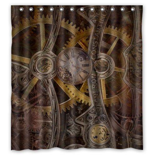 Stylish Living Elegant Gear Steampunk Bathroom Shower Curtain 66
