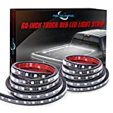 MICTUNING 2Pcs 60'' White LED Cargo Truck Bed Light Strip Lamp Waterproof Lighting Kit with On-Off Switch Fuse 2-Way Splitter Cable for Jeep Pickup RV SUV and More
