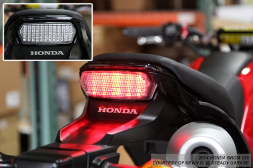 Integrated Sequential LED Tail Lights Clear Lens For 2014-2019 Honda Grom MSX 125