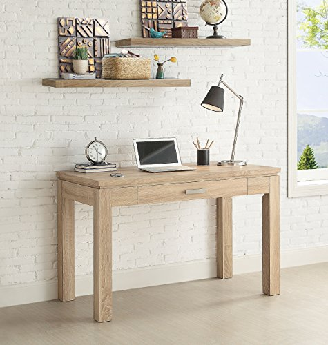 Whalen Furniture Tustin Parson Solid Wood Computer Desk, Natural Oak - Natural oak look 3D touchable laminate Spacious drawer with sturdy drawer slides Sturdy Parson style top and legs - writing-desks, living-room-furniture, living-room - 51X7ubLcl5L -