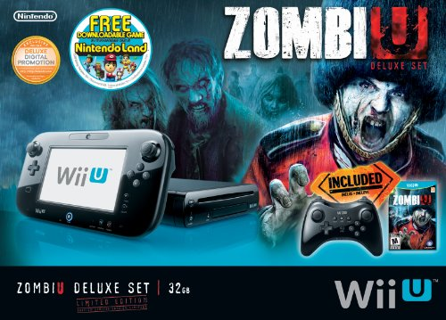 ZombiU Deluxe Set Wii Console nintendo