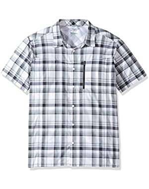 Men's Silver Ridge Plaid Short Sleeve Shirt, Shark Plaid, XX-Large