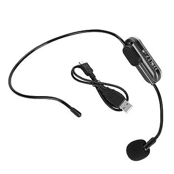 Zerone Auriculares inalámbricos del Mic de la transmisión de FM del micrófono montado en la Cabeza de Bluetooth: Amazon.es: Electrónica