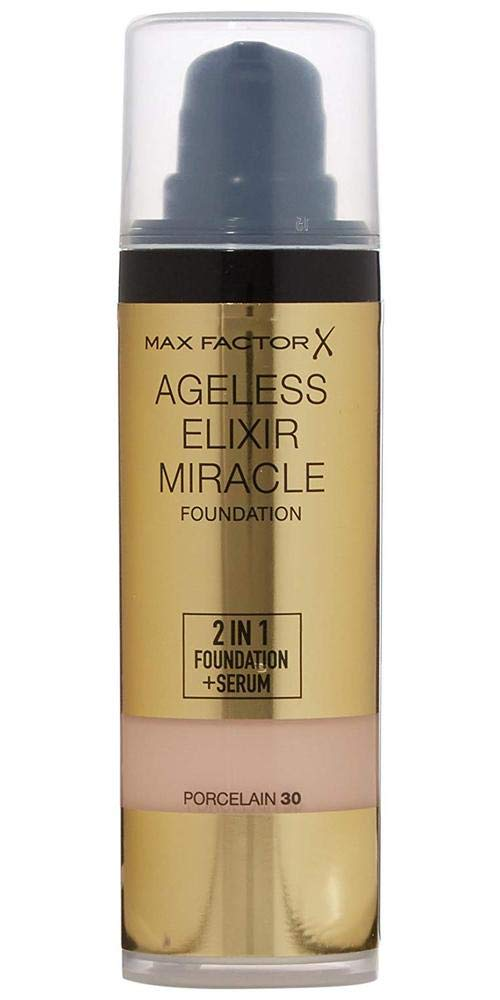 Max Factor Ageless Elixir 2 in 1 Foundation Plus Serum SPF 15, No.30 Porcelain, 1 Ounce