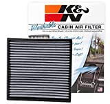 Automotive : K&N VF2001 Washable & Reusable Cabin Air Filter Cleans and Freshens Incoming Air for your Acura, Honda