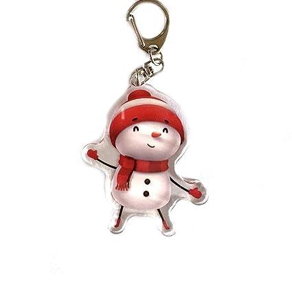 Llavero de Na de dibujos animados lindo muñeco de nieve ...