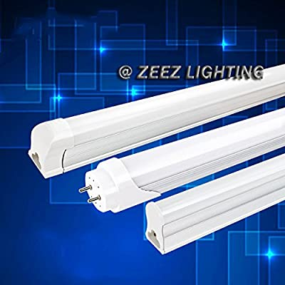 ZEEZ Lighting - T5/T8 LED Tube Lights 2FT 3FT 4FT Warm Natural Cool White Fluorescent Lamp Replacement