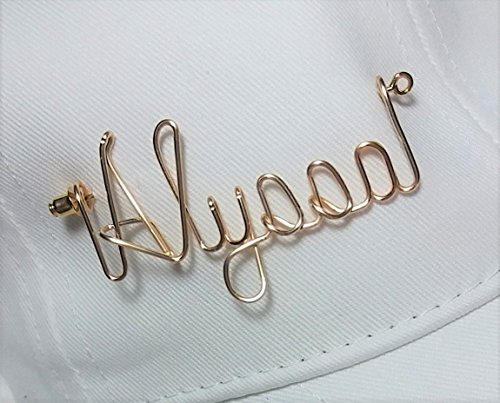 Golf Hat Visor Cap Name Pin - Sports Pin - Brooch Lapel Scarf Badge Personalized Any Name Club or Nickname by Linda's Personalized Jewelry - Quality Jewelry and Wire Craft Designs