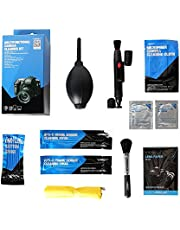 VSGO DKL-6 Camera Cleaning Kit Essential Package for DSLR and Sensitive Electronics: APS-C Sensor and Cotton Swab, Lens Pen/Brush, Wet Wipes, Lens Cleaning Paper, Microfiber Cloth, Air Blower, Blue
