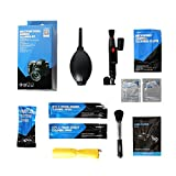 VSGO Camera Cleaning Kit, 9 in 1 Professional Multifunctional VSGO Pen, Cloth, Swab, Blower, Brush, Cotton, Wipes, Paper, Bag Use On Camera Seam Lens Sensor LCD Screen or other Delicate Part