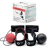 Boxing React Reflex Ball Bundle | 2-in-1 Boxing Reflex Ball Bundle | 2 Headbands + 2 Punching Ball + 2 handwraps | 2 Training Ball on String | React Reflect Ball | Perfect for Kids & Adults